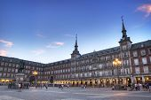 image of great horse  - Plaza Mayor with statue of King Philips III in Madrid - JPG