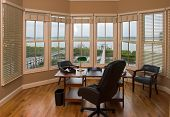 Executive office with view of the water