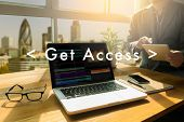 Get Access Social Media Obtainable Available Businessman Internet Online poster