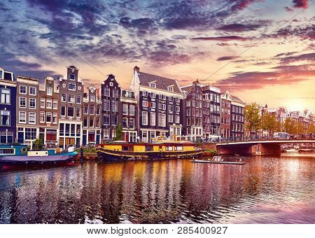 Amsterdam Netherlands Floating Houses and