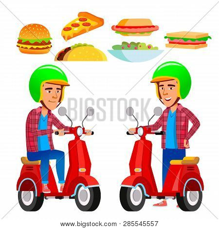 Food Delivery Service Vector Red