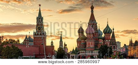 Moscow Kremlin And St Basils