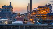 Steel Plant, Metallurgical Plant, Metallurgical Steelmaking Factory. poster