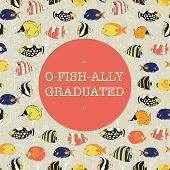 Graduation Banner Vector Design. Officially Graduated. Ofishally Graduated. Fun Illustration Of Colo poster