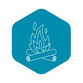 Bonfire Icon. Outline Illustration Of Bonfire Vector Icon For Web poster