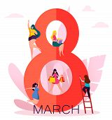 International Womens Day Greeting Card poster
