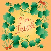 Kiss Me, I Am Irish. Typographic Style Poster For St. Patricks Day. Lettering T-shirt Design. Saint  poster