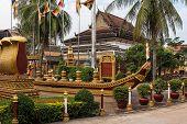 Wat Preah Prom Rath In Siem Reap, Angkor, Cambodia. poster