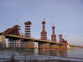 The Construction Of A New Bugrinskij Bridge The Erection O In Novosibirsk, The Construction Of Suppo poster