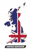 Map Of United Kingdom And Flag Of United Kingdom.map Of United Kingdom And Flag Of United Kingdom Us poster