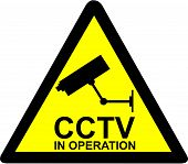 image of cctv  - Vector illustration of a closed circuit television  - JPG