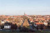 View Of Hildesheim German City Church Rooftops Winter Clarity Daylight poster