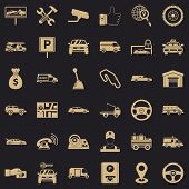 Automobile Icons Set. Simple Style Of 36 Automobile Vector Icons For Web For Any Design poster