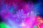 Color Holi Festival. Colourful Explosion For Happy Holi Powder. Color Powder Explosion Background. poster