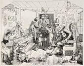 Постер, плакат: Тирольские домашний интерьер старый иллюстрации После нанесения тирольской неопознанных автора Опубликовано