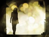 foto of street-walker  - Illustration of a woman - JPG