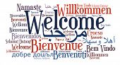 foto of french culture  - Welcome phrase in different languages - JPG
