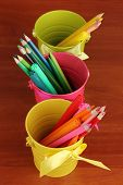 stock photo of non-permanent  - Colorful pencils and felt - JPG