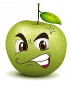 image of envy  - illustration envy apple smiley on a white - JPG