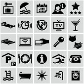 picture of motel  - Hotel icons set - JPG