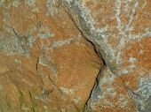 image of lithosphere  - close up of the surface of a large boulder - JPG