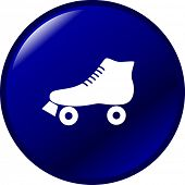 picture of roller-derby  - roller skate button - JPG