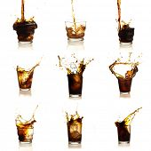 Assortment Of Cola Drinks On White Background