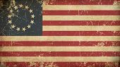 image of betsy ross  - Illustration of an rusty grunge aged AmericanBetsy Ross flag - JPG