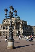 Kind On An Opera Of Dresden In Solar Weather poster