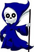picture of grim-reaper  - Vector illustration of Cute cartoon grim reaper - JPG