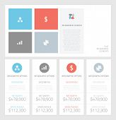 Minimal infographic flat business elements vector illustration