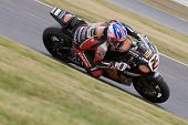26 Sept 2009; Silverstone England: Rider number 25 Josh Brookes AUS riding for HM Plant Honda  durin
