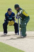 May 03 2009; Southampton Hampshire, J Taylor   batting watched by T Burrows  competing in Friends Pr