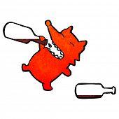 stock photo of greedy  - retro cartoon greedy fox - JPG