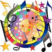 picture of music note  - A Vector Musical Notes Background in Square Format - JPG