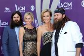 Jep Robertson, Jessica Robertson, Korie Robertson and Willie Robertson of Duck Dynasty at the 48th A