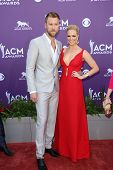 Charles Kelley and Cassie McConnell at the 48th Annual Academy Of Country Music Awards Arrivals, MGM