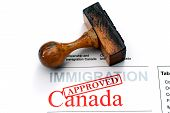 stock photo of citizenship  - Close up of Immigration Canada  - JPG