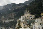 Amalfi City Close View, Italy poster