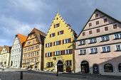 Old Timbered House Facade At Of Rothenburg Ob Der Tauber