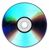 stock photo of optical  - Data loss due to dust and scratch on badly damaged CD DVD optical media - JPG