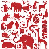 stock photo of funky  - funky animals vector collection  - JPG