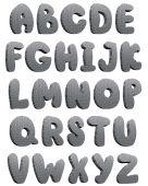 Постер, плакат: Технологические 3D алфавит