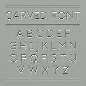 picture of rock carving  - Carved font design - JPG