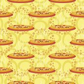 picture of hot fresh pizza  - Seamless background - JPG