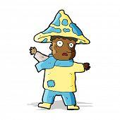 picture of magical-mushroom  - cartoon magical mushroom man - JPG