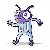 image of spaceman  - cartoon alien spaceman - JPG