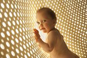 foto of naked children  - naked baby with rays of light network