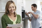 pic of oven  - Satisfied Female Customer With Oven Repair Bill - JPG