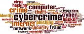 image of cybercrime  - Cybercrime word cloud concept - JPG